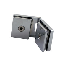 Frameless Cupboard Cabinet Glass-to-Glass Door Pivot Hinge Clamps Fit 5-8mm Thickness Glass Hinge for Cabinet Shower(China)