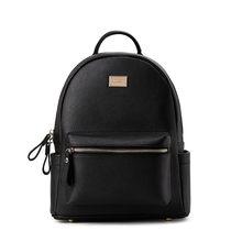 Luxury Backpack Genuine Leather Mini Backpacks Designer Women High Quality  School Bags for Teenage Girls Black mochilas mujer 2b6833d78834