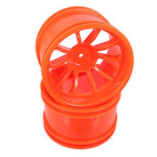 Plastic Wheel Rim w/o Tire For Rc Car 1/10 Big Foot Monster Truck Truggy Car HSP Himoto HPI Traxxas Redcat 08008 08044(China)