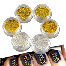 1 psts Mini 0.8/1.0/1.5/2.0 Metallic Steel Beads for Nail Art Decorations 3d Polish UV Gel Glitter DIY Manicure Tools NJ251