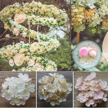 Artificial flower heads hydrangea orchid flower DIY flores home decoration wedding flower bedroom accessory 15pcs/lot(China)