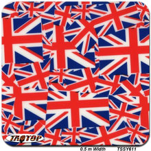 iTAATOP TSSY611 0.5m *2M Popular UK Flag Red Blue UK pva water soluble hydrographic film water transfer printing film(China)