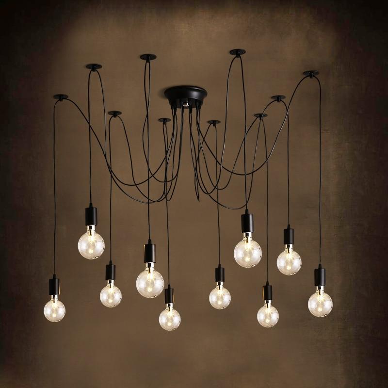 Retro Spider pendant lights Classic Decorative Loft lamp Edison Pendant Light hanging lights E27/E26 120V-240V for home<br>