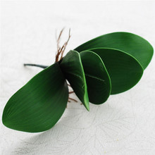 New 1Pc Green DIY Artificial Butterfly Orchid Silk Flower Leaf Bush Grass Home Plant Wedding Decoration Bouquet(China)