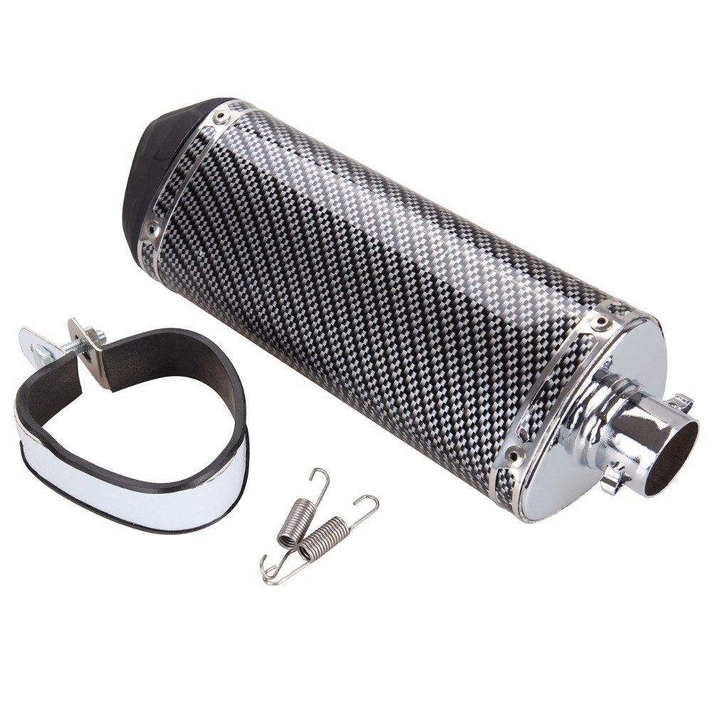 (Ship from EU) Universal Carbon Fiber 38mm Motorcycle Exhaust Muffler Pipe Silencer DB Killer<br>