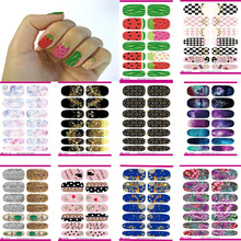 10pcs Fashion nail Art Sticker Full Cover Water Transfer Foil nail sticker stencils for nail Tools Stickers nail Art Wholesale