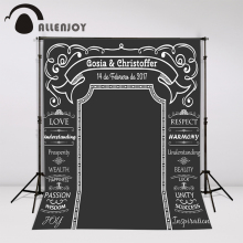 Allenjoy DIY Wedding Background Idea Chalk Archway backdrop amazing chalkboard Custom name date photocall Excluding bracket(China)