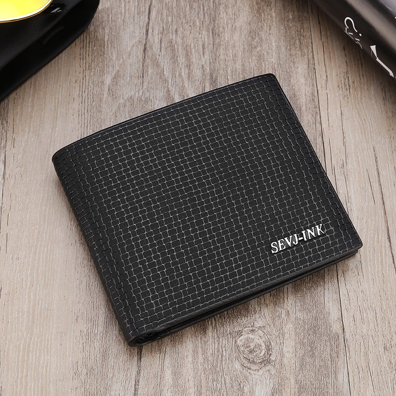 Man Leisure Slim Black Coffee Short Leather Wallet Thin Brand Male Card Holder Purses Wallets for Men Free Shipping<br><br>Aliexpress