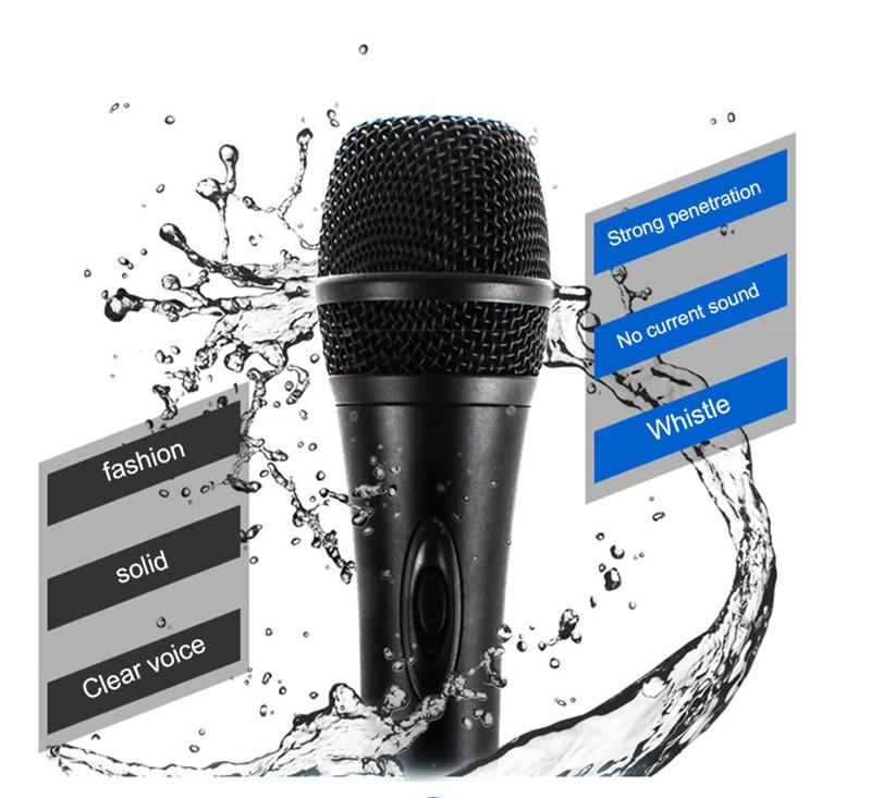 Quality Wired Dynamic Microphone Professional Mike Microfone Mikrofone Mic Singing KTV Karaoke Microphone System Microfono PVM02 (2)