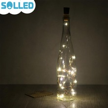 Buy SOLLED 2M 20LED Wine Bottle Light Cork Shape Battery Copper Wire String Lights Bottle DIY,Christmas, Wedding Party for $1.19 in AliExpress store