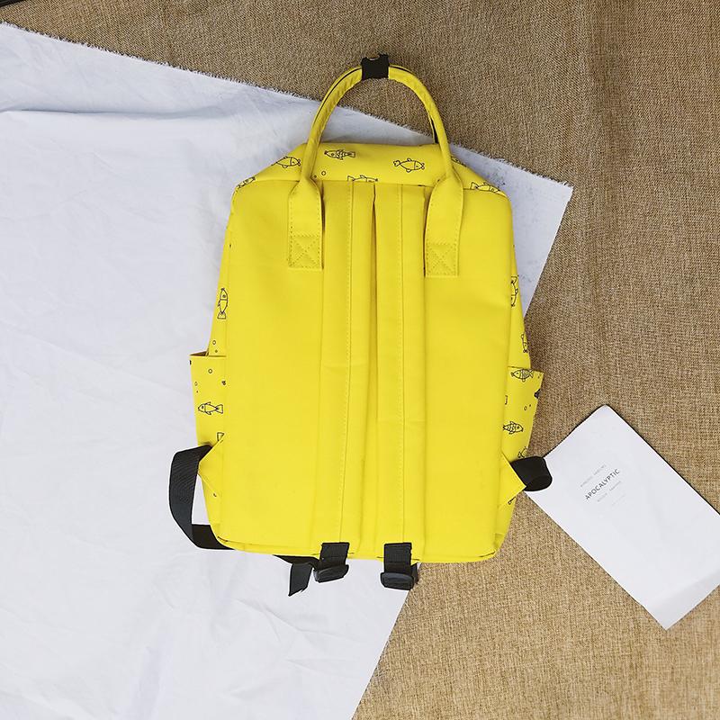 Menghuo Fish Printing Women School Bag Backpack for Teenage Girls Backpacks Female Canvas Children Schoolbag Women Bag s (12)
