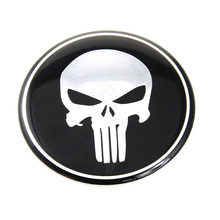 New Car Styling 1x 65MM Punisher Symbol Tyre Wheel Center Steering Wheel Hub Cap Emblem Badge Decal For Dodge Ford Honda #3824