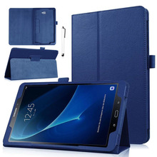 "New Folding Litchi Pattern Artificial Leather Cover Case For Samsung Galaxy Tab E NOOK 9.6"" SM-T560 Tab E 9.6"" (Verizon)SM-T567(China)"