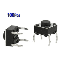 Promotion!Amico 100 Pcs 6x6x4.5mm Panel PCB Momentary Tactile Tact Push Button Switch 4 Pin DIP