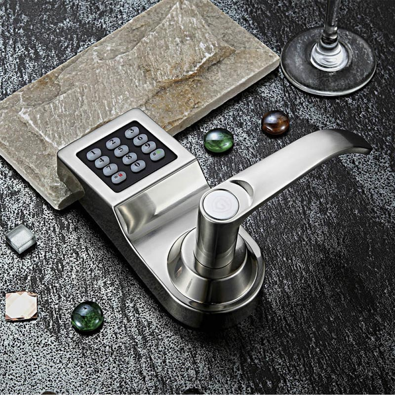 L&amp;S Digital Code Door Lock Keypad Password Card Mechanical Key Stainless Steel Single Latch Zinc Alloy Silver SL16-086S-1<br><br>Aliexpress