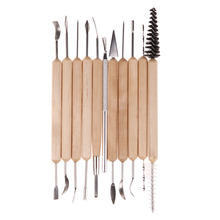 11pcs Wood Working Tools Clay Sculpting Set Wax Wood Carving Tools Pottery Shapers Polymer Modeling Hand Tools(China)