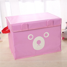2016 New High Quality Flax Color Convenient Folding Storage Box Toy Finishing Box