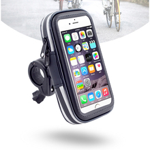 "5"" 5.5"" Bike Mobile Phone Bags Suit 15-25mm Handlebar Touch Screen Bicycle Panniers Waterproof 360 Free Rotation Cycling Case"
