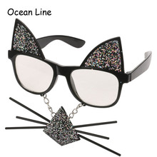 Funny Cat Costume Mask Novelty Glasses Halloween Party Photobooth Props Favors Accessories Party Supplies Decoration Gifts(China)