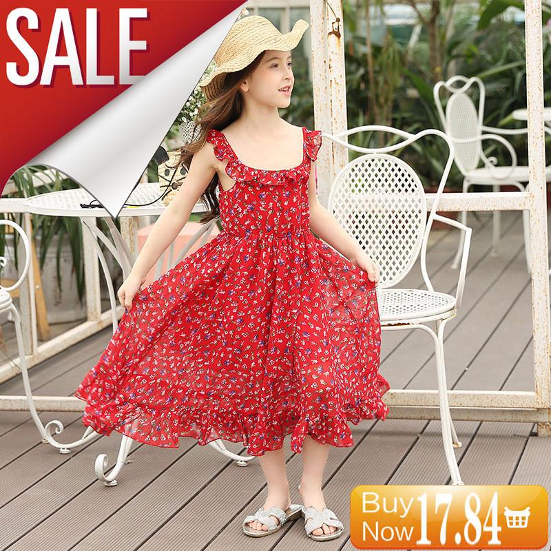 GEMTOT-Kids-Big-Girl-Dress-2017-Summer-New-Chiffon-Sling-Dress-Girl-Korean-Princess-Dresses-for