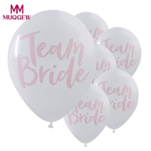 10PC Team Bride White Pink Hen Night Do Party Wedding Latex Printed Balloons party decoration DIY home decoration accessories(China)