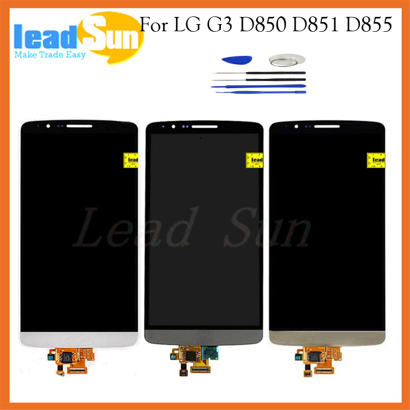 High quality replacement LCD screen display with touch digitizer For LG G3 D855 d850 d851 lcd assembly 5.5 inch with free tools<br><br>Aliexpress