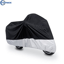 Black and Silver Outdoor Motorcycle Bike Moped Scooter Cover Waterproof Rain UV Dust Prevention Dustproof Covering L/XL/XXL/XXXL(China)