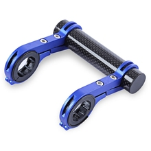 Cycling MTB Flashlight Holder Bike Torch Bracket Lamp Holder Bicycle Carbon Fiber Handlebar Extender Outdoor Sports 3 Colors