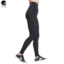 Quick Drying Compression Tights fabric Stretched Sports Pants Gym Clothes Running Tight Women Sports Leggings Fitness Yoga Pants