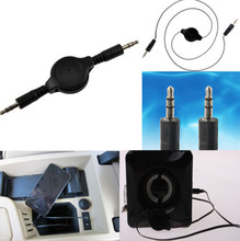 Retractable 3.5mm AUX Cord Male to Male Stereo Audio Cable for Tablet Android Phone MP3 MP4