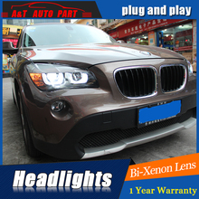 Car Styling LED Head Lamp for BMW E84 Headlights X1 LED Headlight 120 125 angel eye headlight BI XENON front accesspories