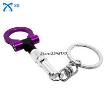 Key Chain Auto Part Keyring Ring Towing Creative Gifts Key Fob Turbo Car Accessories For Opel Dodge Trailer Hook Keychain Hot