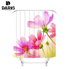 SDARISBS Creative Waterproof 3D London Big Ben Shower Curtain Bathroom Product Polyester Telephone Booth Pattern with 12 Hooks