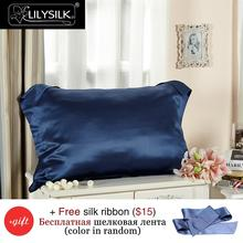 LILYSILK 100% Silk Pillowcase Oxford Pure Mulberry Silk Pillow Case 22 Momme Get Free Silk Eye Mask(China)