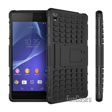 For Sony Xperia Z3 Case D6603 D6643 D6653 Z3 Heavy Duty Armor Shockproof Hybrid Hard Rugged Rubber Phone Cover For Sony Z3 movil