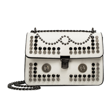china handbags spring and summer small chain bags for women 2017 shoulder bags fashion rivet punk messenger bag(China)