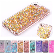 New Hot Diamond Liquid Glitter Sand Love Heart Back Case Cover For iPhone 6 6g 6s 6Plus 5 5s 4 4s 7 7plus Phone Cases