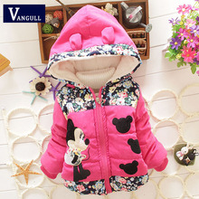 New 2016 Autumn & Winter Children Minnie Hoodies Jacket & Coat Baby Girls Clothes Kids Toddle Outerwear Warm Coat 3 style
