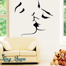 Starting Affectionate Kiss Of Love Wall Art Mural Wall Stickers Home Decor Stikers For Wall Decoration Bedroom Accessories DIY(China)