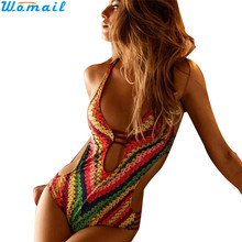 Womail Suit Bikini Women Bandage One Piece Bikini Monokini Push Up Padded Bra Swimwear Swimsuit 2017 drop shopping 1PC(China)