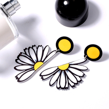 Acrylic Earrings Jewelry Women Hip Hop Punk Big Flowers Poker Symbol Smile Funny Imitation Fashion Nifty Lifeful Young 9319