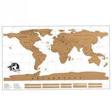 Personalized Scratch Off World Map Traveler Vacation Log Poster Flip Chart Wholesalestore(China)
