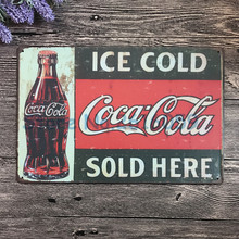 Wall Poster 20*30CM coke Metal Tin Sign Pub Club Gallery Poster tips Vintage Plaque Decor Plate New W-0550 5231 free shipping