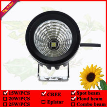 New 3inch round 15W road light used for SUV ATV Truck car boat forklift led cannon light 12v external lights(China)