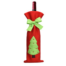 Fashion Best Selling Wine Bottle Cover Bags Decoration Home Party Santa Claus Christmas Free Shiping Aug15(China)