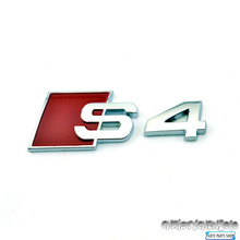 Rhino Tuning S-line S4 3D Sticker  for S4 S-line Rear Trunk Boot Emblem Auto Side Wing Sticker Full Metal Decal 213