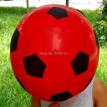 50pcsPrinted football balloons 12inch 2.8g  mixed color red yellow white orange Party decorations Free shipping