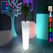 24 Keys Remote control Flower Power Color changing LED Plant Pot,Vase Lumineux of LED Multicolore,illuminated flower pots light(China)