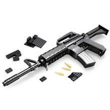 22607 New 524Pcs Classic Arms M16 Assault Rifle Gun Weapon 1:1 Lifelike Model Building Blocks Kids Jigsaw Toys Birthday Gifts
