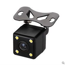 Car rear view camera plug LED HD night vision camera 170 degrees mini night vision rear view reversing camera Free shipping(China)